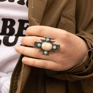 Jewelry - TURQUOISE CROSS RING
